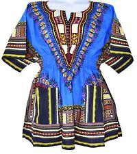 Women Fashion African Print Dashiki Short Dress Short Sleeve Party Dress One Siz