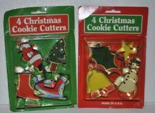 New listing Christmas Holiday Season Santa Sweets Cookie Cutters molds Metal Set New