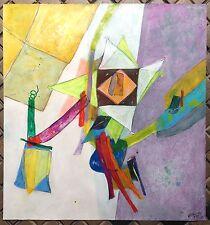 Humair Daniel acrylique et technique mixte sur papier signée 1975 Art Abstrait