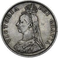 1890 DOUBLE FLORIN - VICTORIA BRITISH SILVER COIN - NICE
