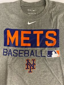 New Men's NIKE DRI-FIT Tee New York METS Baseball Legend Practice T-shirt M