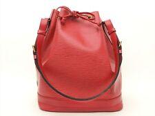 Louis Vuitton Authentic Epi Leather Red Noe Tote Shoulder Bag Auth LV