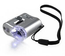 60X Microscope LED Light Jeweler Loupe Pocket Magnifying Magnifier Glass Useful