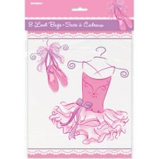 Pink Ballerina 8 Loot Bags Birthday Party Dance Recital Lootbag