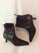 Stuart Weitzman For Russell&Bromley Black Ankle Leather Boots Size 6.5
