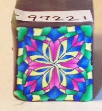 "polymer clay cane, raw, square, Kato, Premo # 97221  7/8"" x 1 5/8"" 1 ounce"