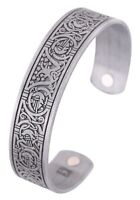 Tree of Life Magnetic Bracelet Viking Crow Cuff Bangle Bracelet for Men