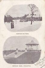 NORTON ON TEES & STOCKTON, 1902 MULTIVIEW DURHAM POSTCARD  (ref 2334/20/Gb)