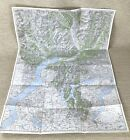 1944 Antique Map of Switzerland Bellinzona Lugano Locarno Como Varese Ticino WW2
