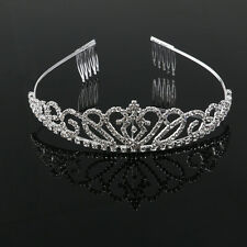 Wedding Bridal Rhinestone Crystal Tiara/Hair Loop/Crown/Hairband/Small Comb New