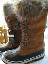 SOREL JOAN OF ARCTIC BOOT WATERPROOF SUEDE RUBBER WARM BR/BL SNOW BOOTS 7.5 NEW