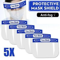 NEW 5x Full Face Visor Mask Shield Protection Reusable Guard Safety Face Cover