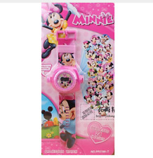 Reloj Proyector MINNIE MOUSE  Projection watch Proyecta 24 imágenes en la pared