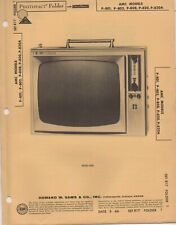 1966 AMC P-801 TELEVISION SERVICE MANUAL PHOTOFACT 802 808 820 820A SCEMATIC FIX