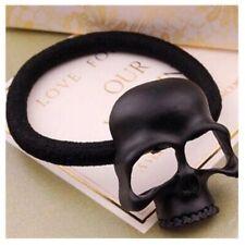 Black Skull Elastic Hair Band Accessory Viking Shield Maiden