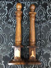Masonic Wood Columns Senior Warden and Junior Warden emblems sold as Pair, Mason