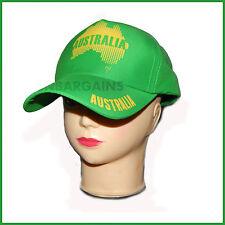 Green Aussie Cap Cricket Souvenir Hat Adult Men Women Baseball Australia Day