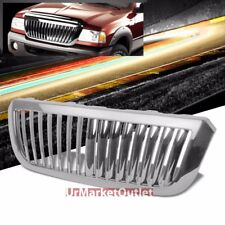 Chrome Vertical Style Replacement Front Grille For Ford 04-05 Ranger V6 2.3L