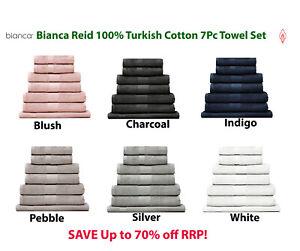 Bianca Reid 550GSM 100% Turkish Cotton Towel Sets | 7pc | Super Soft RRP $119.95