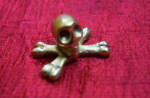Skull Shape Home Table Office Decorative Figurine Handmade Brass Gift Item AK98