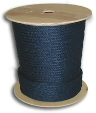 """ANCHOR ROPE DOCK LINE 5/8"""" X 150' BRAIDED 100% NYLON NAVY BLUE MADE IN USA"""