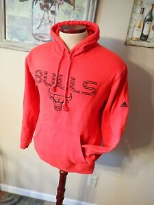 Chicago Bulls NBA Adidas Hoodie Red Size Medium S Embroidered