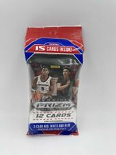 Panini Prizm NBA Draft Picks 2020 Collegiate 12-Card Basketball Trading Cards Pack with 3-Card Red, White and Blue Bonus