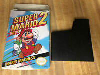 Super Mario Bros. 2 Nintendo NES Box and Sleeve ONLY - No Game - Loved Condition