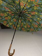 1960s vintage umbrella wood handle