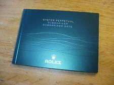 Rolex Submariner 116610LV 116613LB 116618LB Manual Booklet 2013