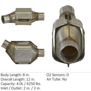 Catalytic Converter-Universal Front-Right/Left Eastern Mfg 830104