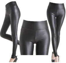 Faux Leather Wet look, Shiny Plus Size Leggings for Women