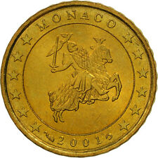 [#461318] Monaco, 10 Euro Cent, 2001, MS(63), Brass, KM:170