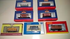 Collection of 7 OO Gauge Wagons, Bachmann, Hornby, Dapol, Oxford.BNIB