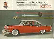 DODGE CUSTOM ROYAL LANCER 4 DOOR 1955 VINTAGE MAGAZINE AD  inv#102