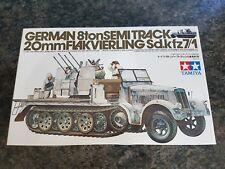 Tamiya 1/35 alemán 8 T Semi Track 20 Mm Flakvierling muy buen estado Muy Raro