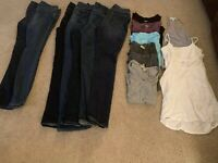 Women's Casual Clothing Lot Of 16! Jeans, Tops, Tanks! Size Small/4Long!