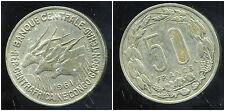 REPUBLIQUE CENTRAFRICAINE    50 francs 1961