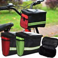 Outdoors Cycling Bicycle Front Basket Bike Handlebar Pannier Bag Bar Pouch Nice