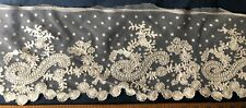 Tambour embroidered net flounce Sew Craft Collector