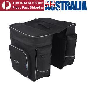 ROSWHEEL Cycling Bicycle Black Rear Rack Bag Seat Pannier Cycling Saddle X2F3