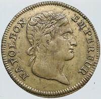 1809 FRANCE Napoleon III OLD FRENCH Jeton Vintage ANTIQUE Medal Token i87627