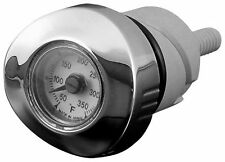 Bikers Choice - 82574 - Oil Tank Dipstick and Temperature Gauge, White Face~