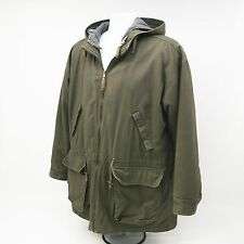 Brandon Thomas Medium Green Military Jacket/Coat Hood Removable Zippered Liner