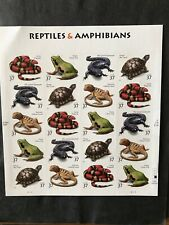 US Stamps 37 Cents Reptiles & Amphibians Sheet of 20 Scott 3814-3818 MNH
