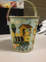 J. Chein Company Co Chein Train Tin Litho Metal Kids Sand Pail Bucket (dd) (a234