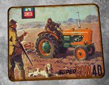 Plaque metal vintage tracteur Someca Som 40