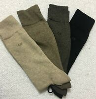Calvin Klein 4-Pair Combed Cotton Casual-Dress Socks Browns/Black  (3652)