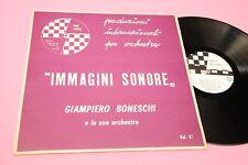 GIAMPIERO BONESCHI LP IMMAGINI SONORE ORIGINAL PRESS ITALY LIBRARY