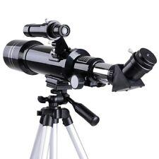 70mm Astronomical Refractor Telescope 2 Eyepieces w/ Aluminum Tripod Kids Gift